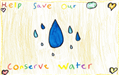 Michelle Romero's poster with illustrations of water use and conservation