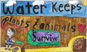 Sydney Shatwell's poster with illustrations of water use and conservation