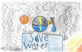 Abraham Romero's poster with illustrations of water use and conservation