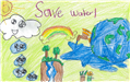 Dalissa Padilla's poster with illustrations of water use and conservation