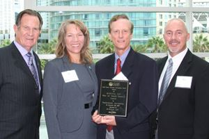 SWA Vice Chair Morrison and SWA staff with SCEDC award