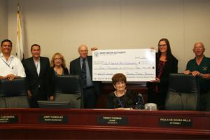 City of Chula Vista presented grant check