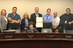 CSDA Award presented to Board