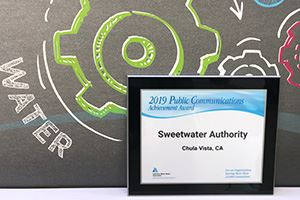 Sweetwater Authority's 2019 Public Communications Achievement Award