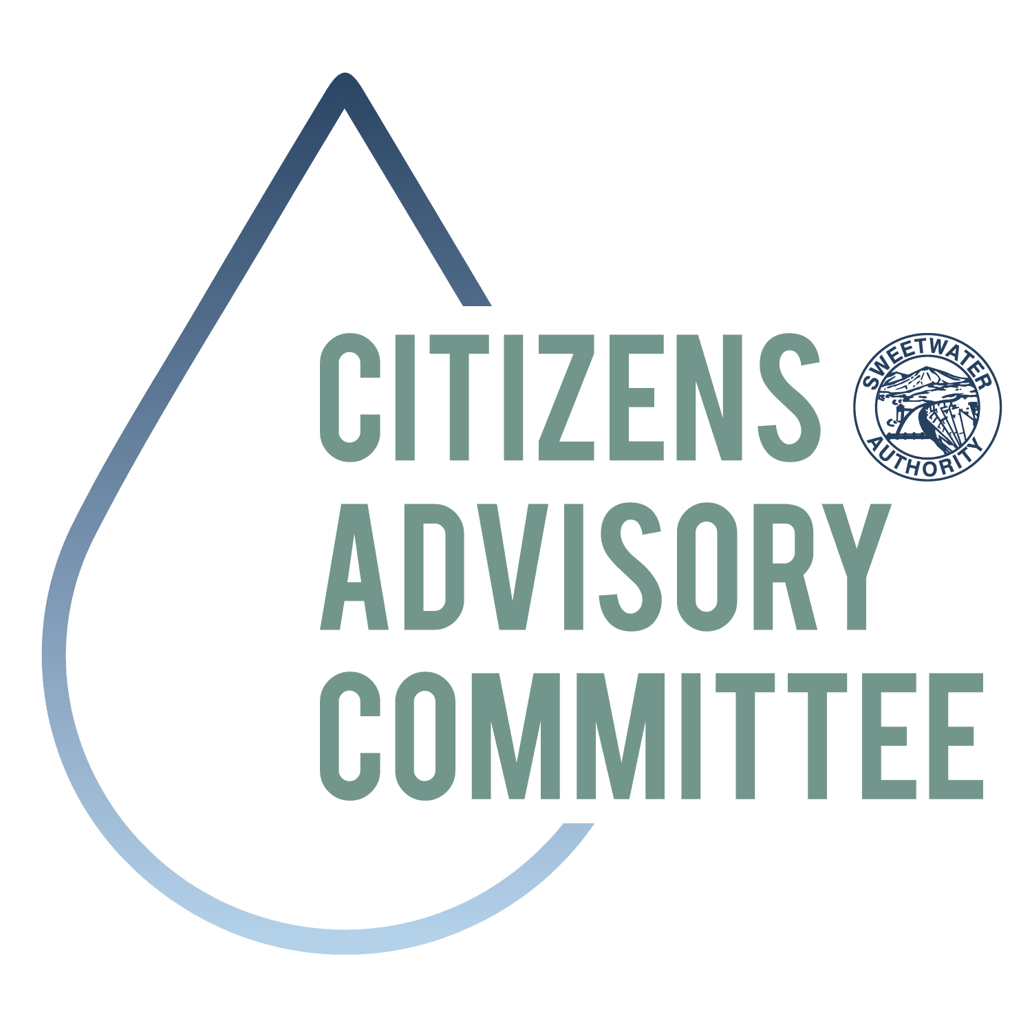 Citizens Advisory Committee logo - drop of water with Citizens Advisory Committee in text next to Sw