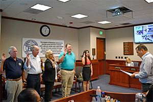 Inaugural Citizens Advisory Committee appointees take ceremonial oath