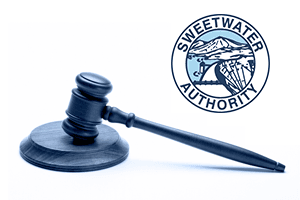 Gavel and Sweetwater Authority logo