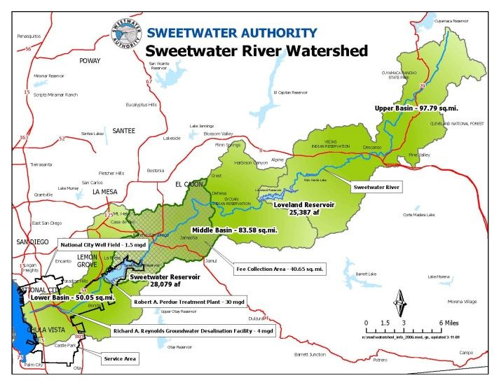 Sweetwater River Watershed Map