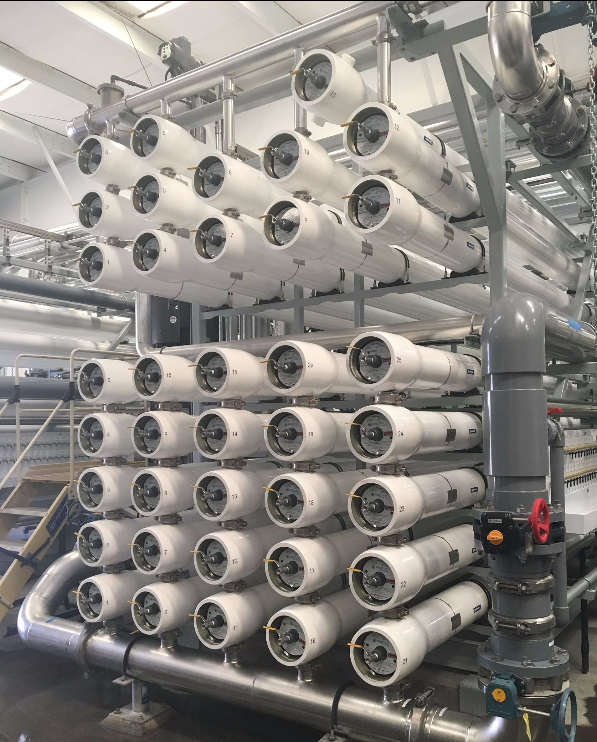 Reverse Osmosis Vessels at the Richard A. Reynolds Groundwater Desalination Facility