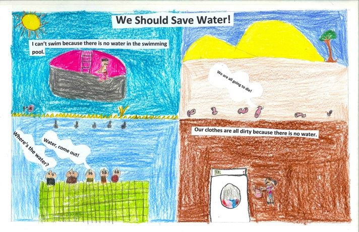 We should save water!